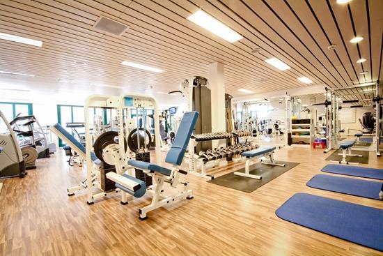 la salle de fitness en hiver