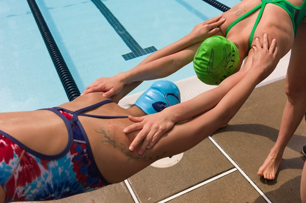 Pre-Swim Stretching