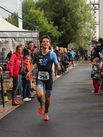 résultats au triathlon Eupen arrivée