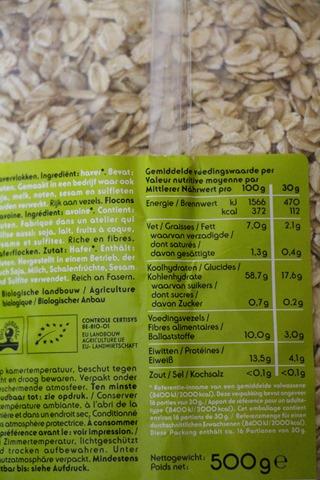 étiquette alimentaire